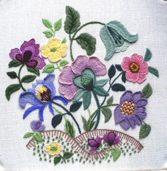 Larkrise A Crewel Embroidery Kit From The Needlewomans