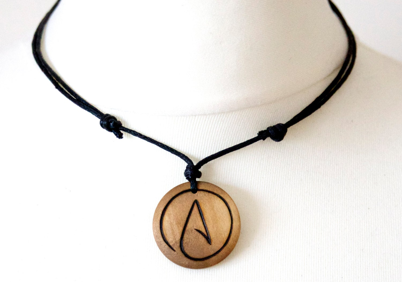 Atheist necklace symbol gift mens jewellery pendant zoom aloadofball Choice Image
