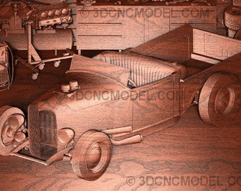 American Heritage Ford Convertible Pickup Wood Carving ~ Ford ~ Truck ~ Ford Pickup ~ Garage Art ~ Wood Wall Art ~ Vintage Car Carvings