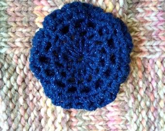 Crocheted Blue Bun Net, Hairnet, Ballet