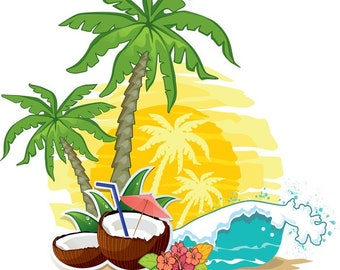 Tropical cross stitch,embroidery palm trees,sea, pattern pattern,coconut download,summer embroidery pattern,embroidery beach
