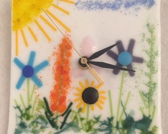 Fused Glass Wall Clock