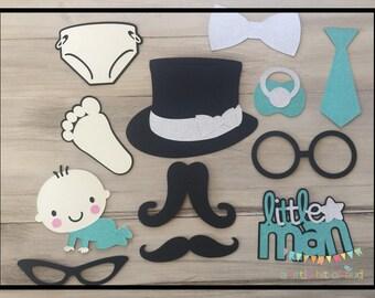 Mustache Baby Shower Decorations, Baby Boy Shower Decorations, Baby Shower Photo Booth Props, Baby Shower Props, Mustache Photo Booth Props