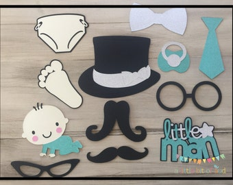 Mustache Baby Shower Decorations, Baby Boy Shower Decorations, Baby Shower  Photo Booth Props,