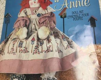 Daisy Kingdom Scarecrow Annie Doll Kit - Vintage