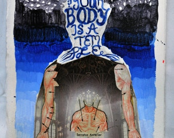 Your Body is a temple. Original Art work.