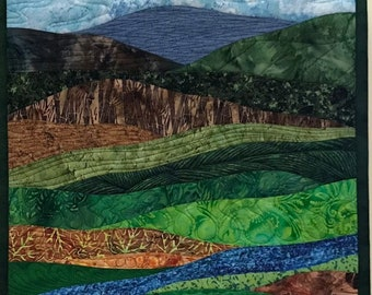 Art Quilt Abstract Landscape 12, Wall Quilt, Wall Hanging