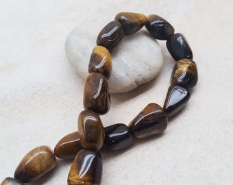 Tiger Eye Nugget Shape Beads