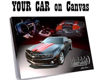 Your Car Art on CANVAS