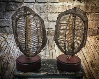 Vintage Fencing Mask Table Lamp