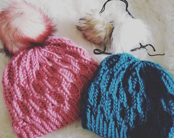 Honey comb cable beanie