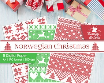 Nordic Christmas Sweater Paper