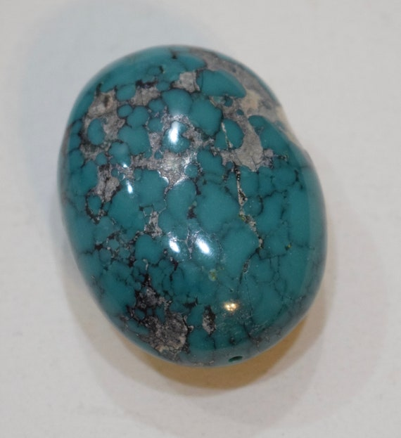 Beads Chinese Blue Green Turquoise Oval Bead 45mm