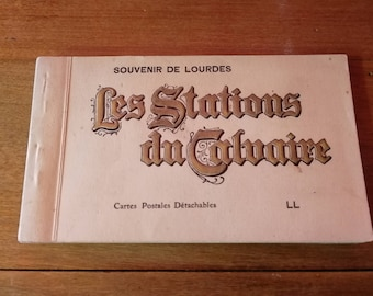 Very old notebook postcards of Lourdes/very old book cards postcards from Lourdes
