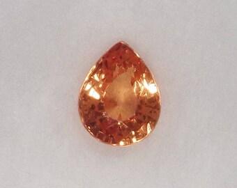 Spessartite / Spessartine Garnet Gemstone 1.45ct Loose Orange Pear Cut Faceted Stone