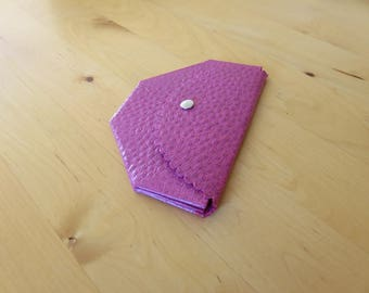 Wallet, Skivertex, pink, origami,