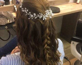 Bridal hair piece Wedding headpiece Pearl Crystal bridal hair vine Bridal hairpiece Wedding hair pieces Bridal hair accessory