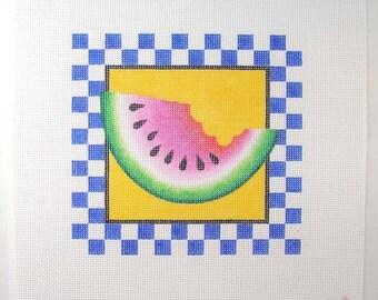Watermelon Needlepoint  7 x7  Square - Jody Designs   S6