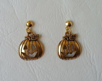 Earrings ♥ ♥ Golden pumpkins