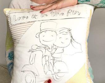 Cuscino fatto a mano - Love