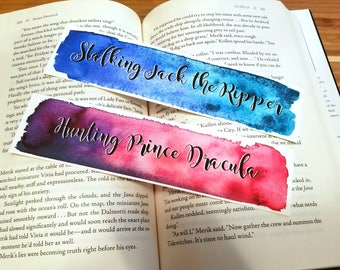 Stalking Jack the Ripper Quote Watercolor Bookmark