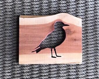 Reclaimed Red Cedar Seagull Silhouette