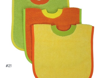 Pullover Baby to Toddler Bibs -- Set of Three -- Set 21