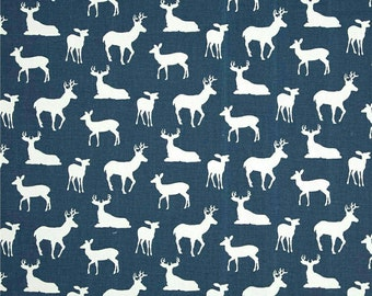 Deer changing pad cover, fitted changing mat cover, deer changing mat cover, Navy blue deer, changing pad
