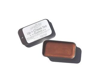 Organic Lip + Cheek Tint - Guava Shade | Cream Lipstick | Organic Lip Balm | Warm Lip Color | Vegan Cosmetics | Mineral Makeup | Peach Shade