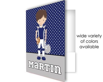 Custom folder, pocket folder, football themed school folder, personalized school supplies, back to school, folder for school