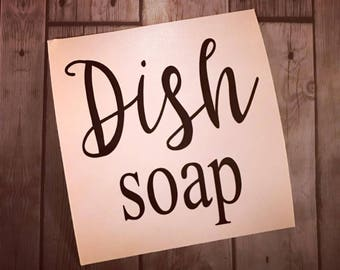 Dish Soap Decal