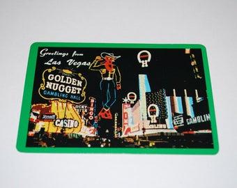 Vintage Las Vegas Golden Nugget Casino Playing Cards Complete Deck of 52 Cards with Joker 1960's Advertising Casino Souvenir Las Vegas Strip