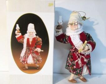 A Christmas Carol Ebenezer Scrooge Porcelain Figurine Doll Kurt S. Adler 1984