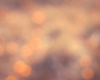 Bokeh photography abstract photo orange print peach wall art bedroom decor nursery artwork circles