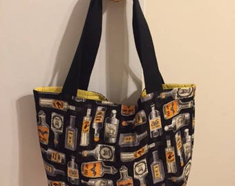 The World's Best Horror Tote Bag / Purse- Witch's Brew Print