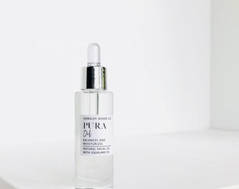 Pura Facial Oil- Natural skincare- squalane oil- fragrance free- all skin types- anti-aging