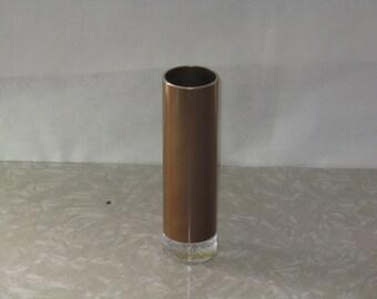 Vintage emalox bud vase glass