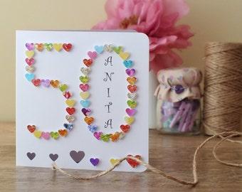 Birthday Cards Pics ~ Handmade birthday cards pink lover