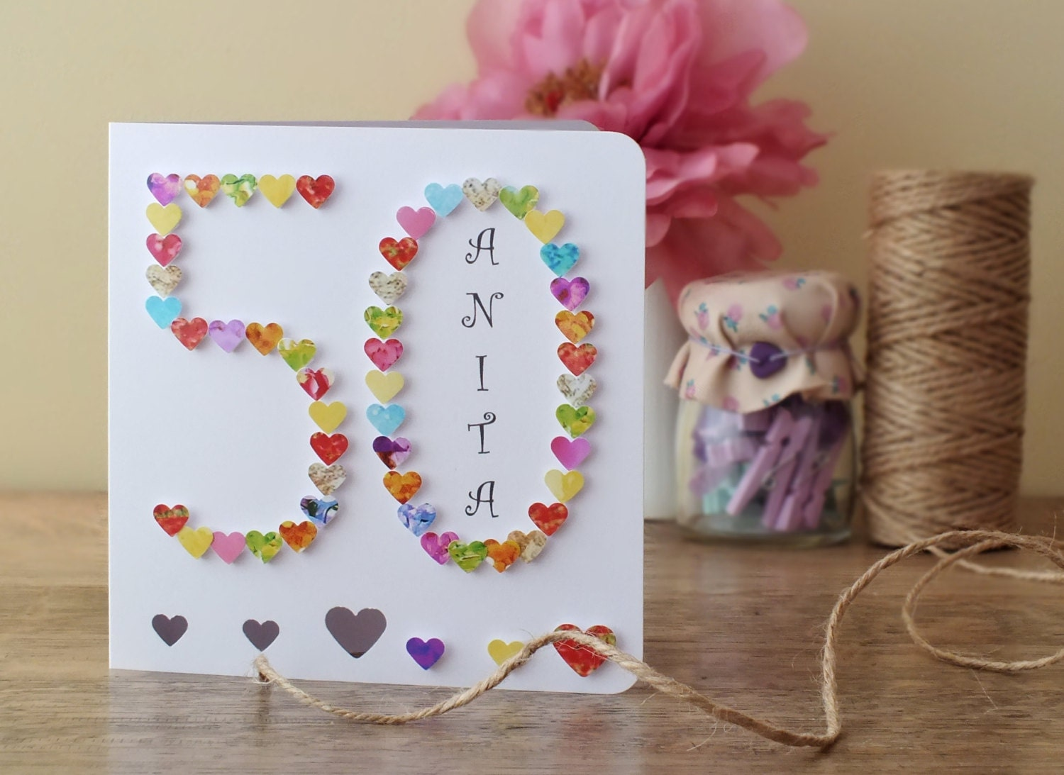 50th birthday card personalised age 50 card fiftieth zoom kristyandbryce Images