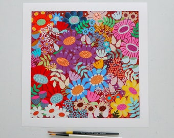 Flower Burst 2 - Large limited edition unframed fine art print