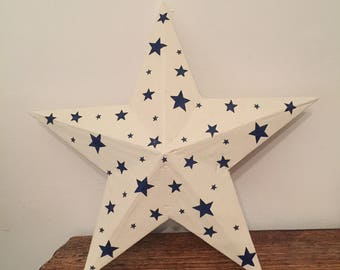 Starry skies wooden star