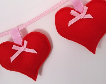 Red and Pink Heart Banner