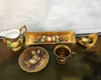 Coalport Bone China golden tea set