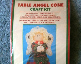 DanDee Table Angel Cone Craft Kit Christmas Decoration Table Top Angel  h3