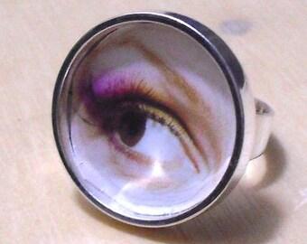 20 pcs silver tone circular Adjustable Ring Blank