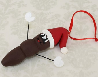 Mr. Christmas Poo Ornament - Clay Ornament Shop - Poo Polymer Clay