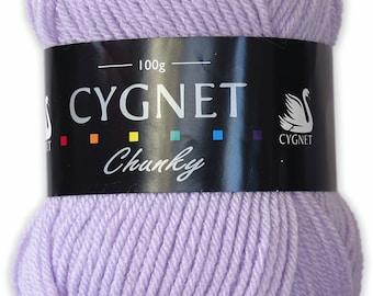 Cygnet Chunky lilac 100g ball