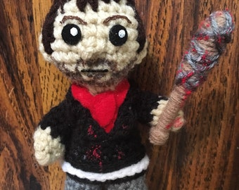 OOAK Crochet Negan Doll