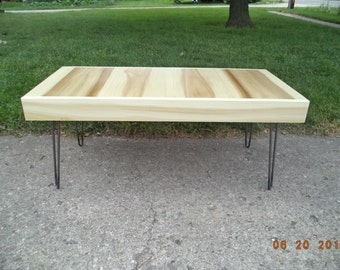 Coffee Table, Bench, Wooden Bench, Industrial And Steel, Dining Bench, Furniture, Metal Legs, Entry Bench, Hallway Bench, TV Stand, Wood