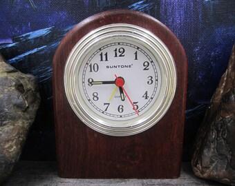 Suntone  dark wood Quartz vintage Clock